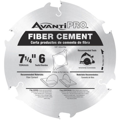 Picture of Avanti Pro 7-1/4 In. 6-Tooth Fiber Cement Circular Saw Blade