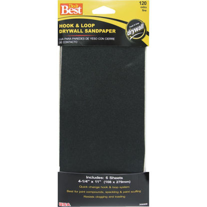 Picture of Do it Best 120 Grit 4-1/4 In. x 11 In. Hook and Loop Drywall Sandpaper (6-Pack)