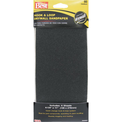 Picture of Do it Best 80 Grit 4-1/4 In. x 11 In. Hook and Loop Drywall Sandpaper (6-Pack)