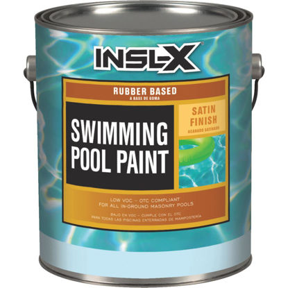 Picture of Insl-X 1 Gal. White Satin Rubber Based Pool Paint