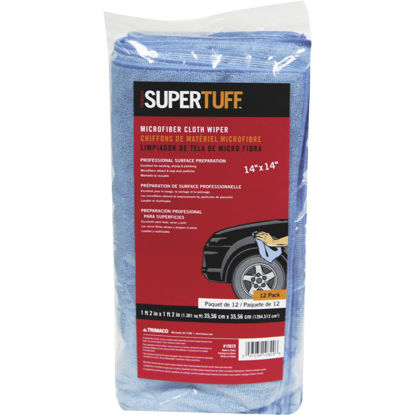Picture of Trimaco SuperTuff 14 In. Square Microfiber Cleaning Cloth (12-Pack)