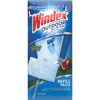 Picture of Windex Outdoor All-in-One Glass Cleaning Tool Refill Pads (2-Pack)