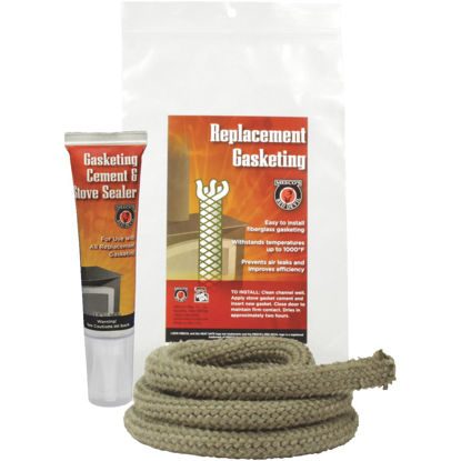 Picture of Meeco's Red Devil Gasketing Cement/Stove Sealer and 1/2 In. x 6 Ft. Replacement Rope Gasket Kit