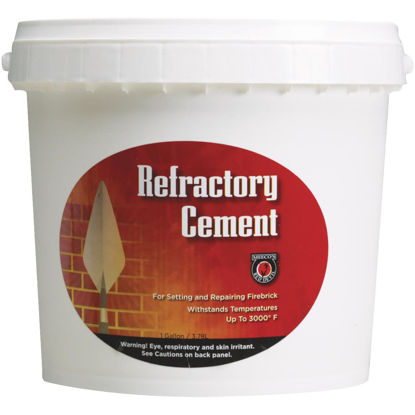 Picture of Meeco's Red Devil 1 Gal. Buff Refractory Furnace Cement