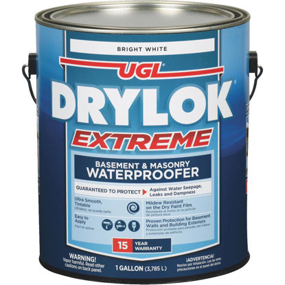 Picture of Drylok White Extreme Basement & Masonry Waterproofer Concrete Sealer, 1 Gal.