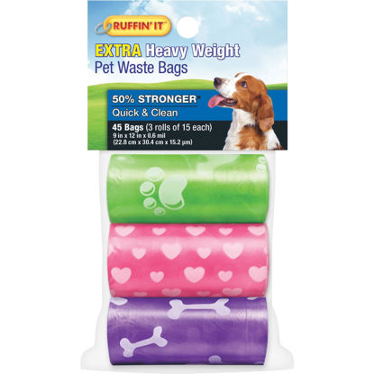 Picture of Ruffin' it 9.5 In. W. x 13.5 In. H. Multi-Color Pet Waste Bag (45-Pack)