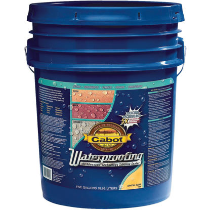 Picture of Cabot Clear Silicone Waterproofing Sealer, 5 Gal.