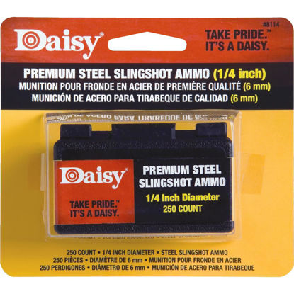 Picture of Daisy Premium Steel 1/4 in. Slingshot Ammunition (250-Count)