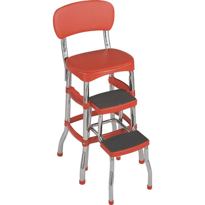 Picture of COSCO Retro Red 2-Step Stool Chair