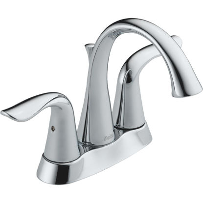 Picture of Delta Lahara Chrome 2-Handle Lever 4 In. Centerset Bathroom Faucet with Pop-Up