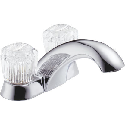 Picture of Delta Classic Chrome 2-Handle Knob 4 In. Centerset Bathroom Faucet