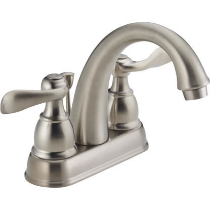 Picture of Delta Windmere Brushed Nickel 2-Handle Lever 4 In. Centerset Bathroom Faucet with Pop-Up
