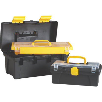 Picture of 16 In. Black and Yellow Toolbox with Bonus 12 In. Toolbox