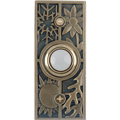 Picture of IQ America Wired Antique Brass Seasonal Lighted Doorbell Push-Button