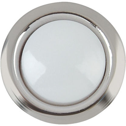 Picture of IQ America Wired Silver Round Lighted Doorbell Push-Button
