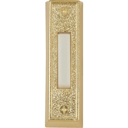 Picture of IQ America Wired Gold Plastic Lighted Doorbell Push-Button