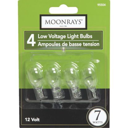 Picture of Moonrays 7W Clear T5 Wedge Base Landscape Low Voltage Light Bulb (4-Pack)