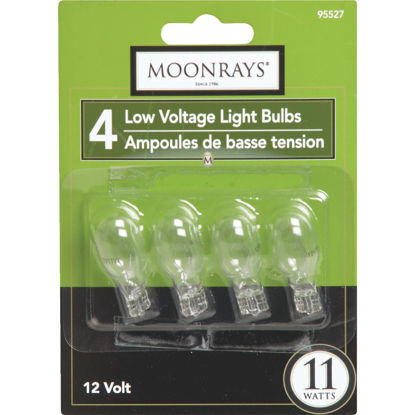 Picture of Moonrays 11W Clear T5 Wedge Base Landscape Low Voltage Light Bulb (4-Pack)