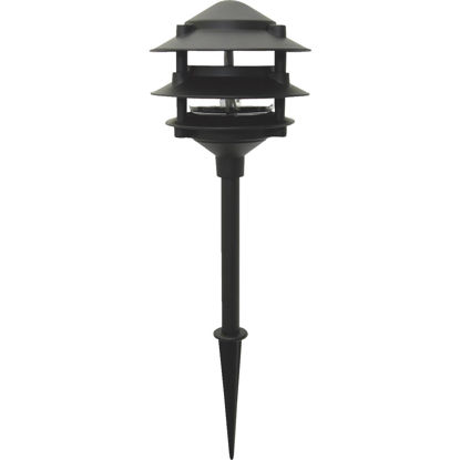 Picture of Moonrays Incandescent Black 3-Tier Landscape Stake Light