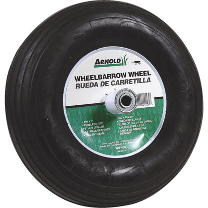 Picture of Arnold 14 x 400-6 In. Pneumatic Wheelbarrow Wheel with 6 In. Hub