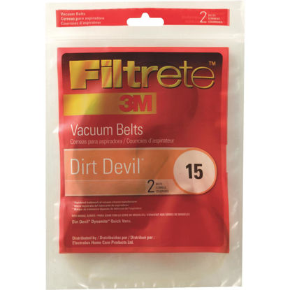 Picture of 3M Filtrete Dirt Devil Type 15 Dynamite, Extreme, Vibe Quick Vacuum Cleaner Belt (2-Pack)