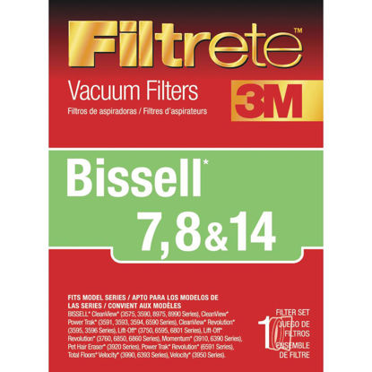 Picture of 3M Filtrete Bissell 7, 8, & 14 Allergen CleanView, Power Trak, Lift-Off Revolution Vacuum Filter