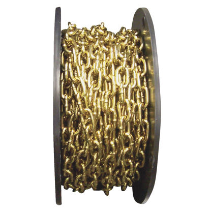 Picture of Campbell #3 50 Ft. Brass Finished Low-Carbon Steel Coil Chain