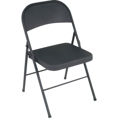 Picture of COSCO All Steel Folding Chair, Black