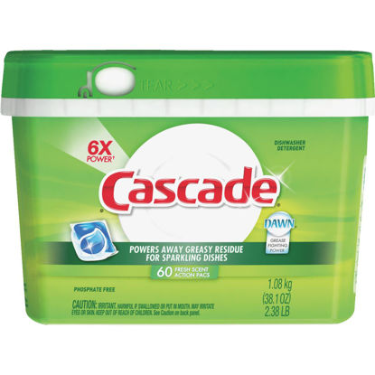 Picture of Cascade Action Pacs Fresh Dishwasher Detergent Tabs, 60 Ct.