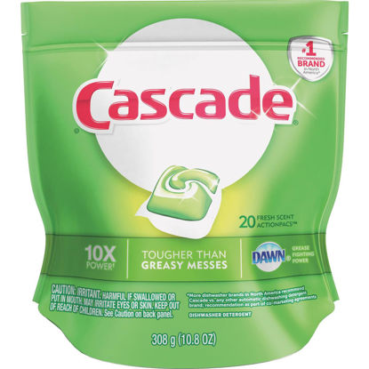 Picture of Cascade Action Pacs Fresh Dishwasher Detergent Tabs, 20 Ct.