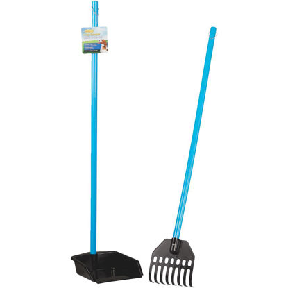Picture of Westminster Pet Poop Patrol 37 In. Purple & Black Plastic Rake & Pan Pet Scooper