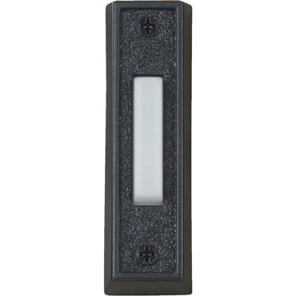 Picture of IQ America Wired Black Plastic Lighted Doorbell Push-Button