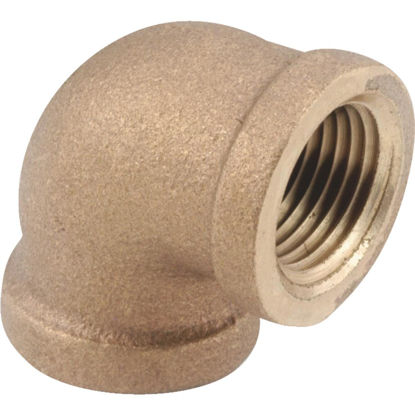 Picture of Anderson Metals 1 In. 90 deg Red Brass Threaded Elbow