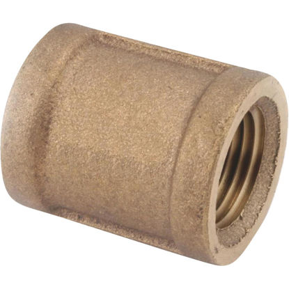 Picture of Anderson Metals 1 In. Threaded Red Brass Coupling