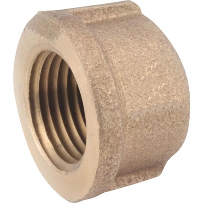 Picture of Anderson Metals 1 In. Red Brass Threaded Pipe Cap