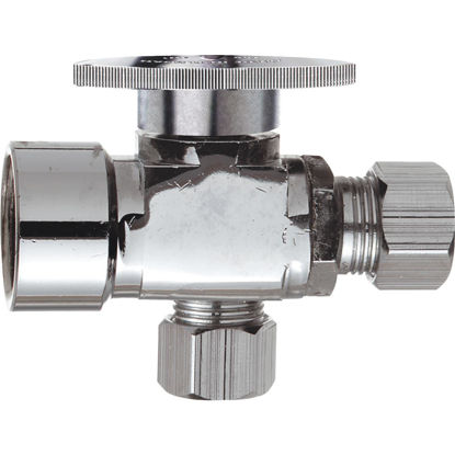 Picture of Do it 1/2 In. FIP x 3/8 In. OD x 3/8 In. OD Quarter Turn Angle Valve