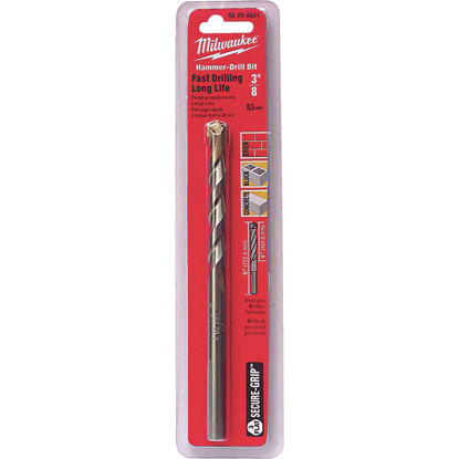 Picture of Milwaukee 3/8 In. x 6 In. 3-Flat Secure-Grip Carbide Masonry Drill Bit
