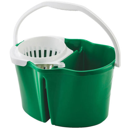 Picture of Libman 4 Gal. Green Clean & Rinse Bucket with Wringer