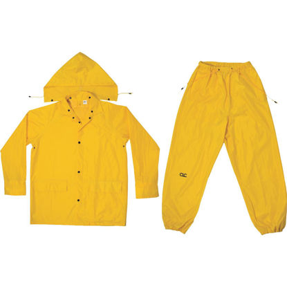 Picture of CLC 2XL 3-Piece Yellow Polyester Rain Suit