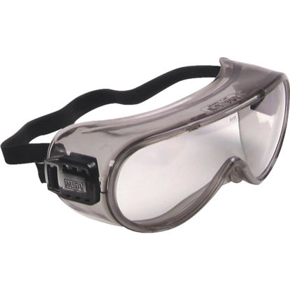 Picture of Safety Works Pro Safety Gray Tint Frame Safety Goggles with Anti-Fog Clear Lenses