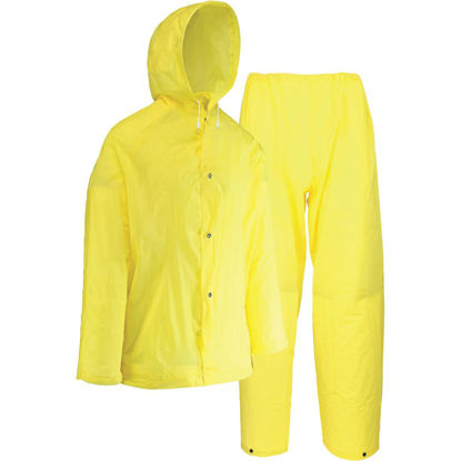 Picture of West Chester Large 2-Piece Yellow EVA Rain Suit