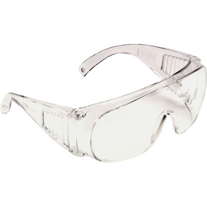Picture of Safety Works Clear Frame Safety Glasses with Anti-Fog Clear Lenses