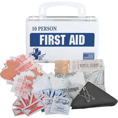 Picture of Certified Safety 10-Person First Aid Kit (55-Piece)
