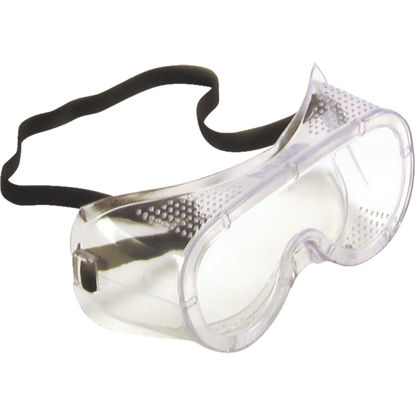 Picture of Safety Works Clear Frame Safety Goggles with Anti-Fog Clear Lenses