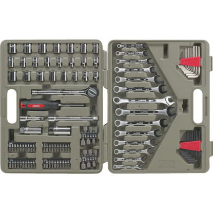 Picture of Crescent 3/8 In. Drive 12-Point Standard/Metric Mechanic & Automative Tool Set (128-Piece)