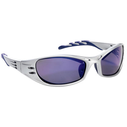 Picture of 3M Fuel Platinum Frame Safety Glasses with Blue Mirrored Lenses