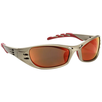 Picture of 3M FUEL Titanium Frame Safety Glasses with Red Mirrored Lenses