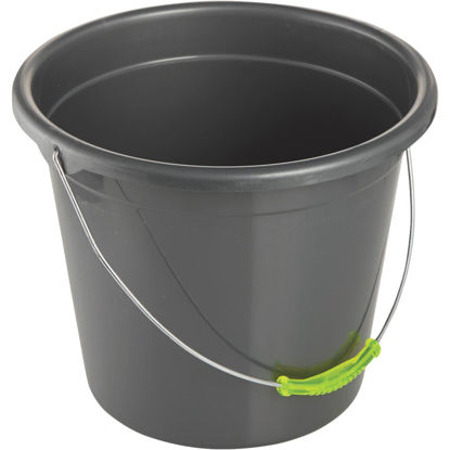 Picture of Smart Savers 10-Qt. Black Poly Bucket