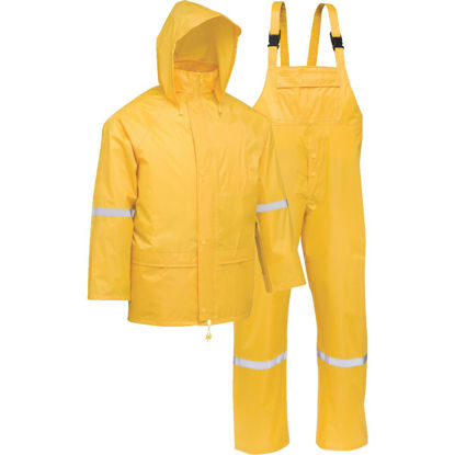 Picture of West Chester 2XL 3-Piece Yellow Polyester Rain Suit