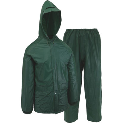 Picture of West Chester Large 2-Piece Green PVC Rain Suit